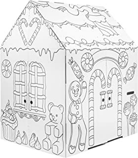 Easy Playhouse Gingerbread House - Kids Art & Craft for Indoor Fun, Color Favorite Holiday Sweets & Winter Friends– Decora...