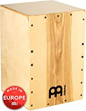 Meinl Cajon Box Drum with Internal Snares - MADE IN EUROPE - Heart Ash Frontplate / Baltic Birch Body, Snarecraft Series, 2-YEAR WARRANTY (SC80HA)