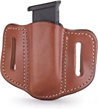 1791 GUNLEATHER Single Mag Holster for Double Stack Mags, OWB Magazine Pouch for Belts Available in Stealth Black, Classic Brown, Black & Brown and Signature Brown