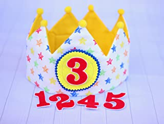Corona di compleanno, corona di stoffa, ornamento per bambini