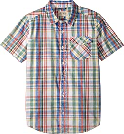 Raf Short Sleeve Button Down Shirt (Big Kids)