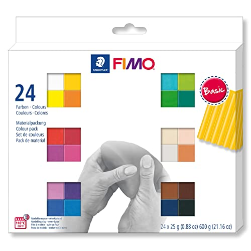 Genuine FIMO 12 x 25g Blocks Doll Art Or Leather Pack Choice Of Professional
