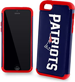 Forever Collectibles Dual Hybrid 2-Piece TPU Case for iPhone 5c - Retail Packaging - New England Patriots