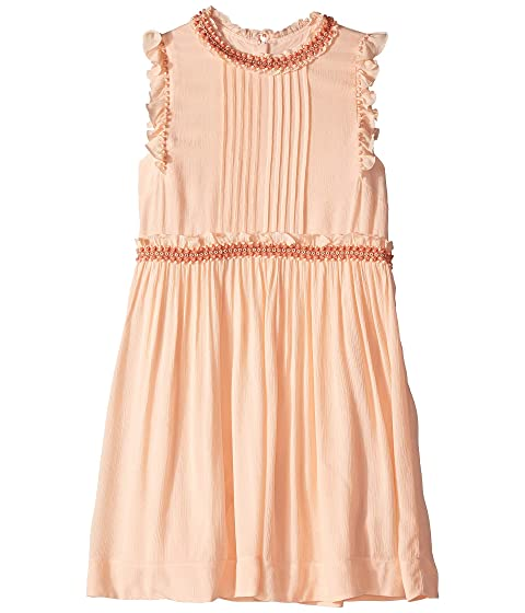 Chloe Kids Couture Dress w/ Pleated Front, Ruffles & Braids (Big Kids)