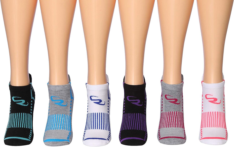 Ronnox Womens 12-Pairs Low Cut Running /& Athletic Performance Tab Socks