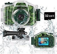 دوربین ضد آب زیر آب کودکان و نوجوانان DEKER برای بهترین هدیه تولد کریسمس برای دختران دختران 3-12 سال دوربین فیلمبرداری دیجیتال مینی کودکان دوربین فیلمبرداری صفحه نمایش 2 اینچ صفحه نمایش IPS با کارت 32 گیگابایت (سبز)