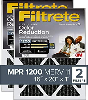 Filtrete 16x20x1, AC Furnace Air Filter, MPR 1200, Allergen Defense Odor Reduction, 2-Pack
