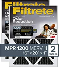 Best Filtrete 16x20x1, AC Furnace Air Filter, MPR 1200, Allergen Defense Odor Reduction, 2-Pack (exact dimensions 15.719 x 19.719 x 0.84) Review
