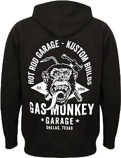 Gas Monkey Garage Men Hoodie Torch & Hammer Zip Black