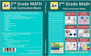 2nd, Second Grade Math Textbook - 125 Lessons (526 Pages Printed B&W) - Curriculum for Homeschooling or Classroom
