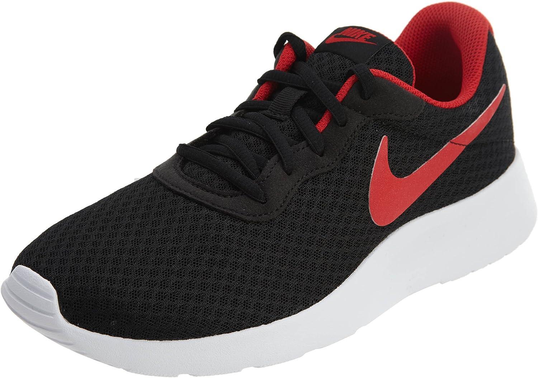 Nike Men's Tanjun Black   University Red-white Running shoes 11 Men US