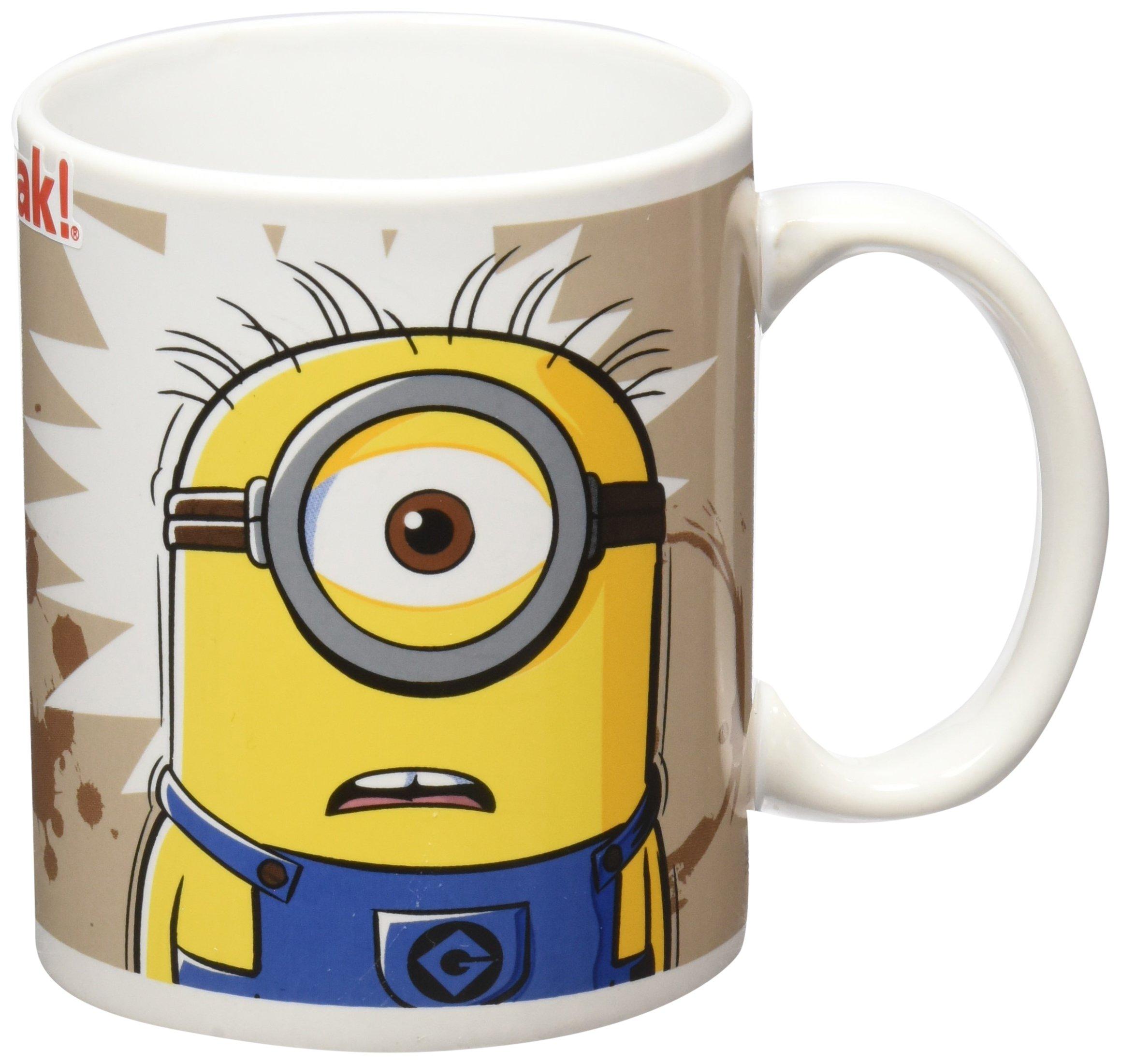Zak Designs Despicable Me Minion I Need Coffee Mug, 11.5 oz