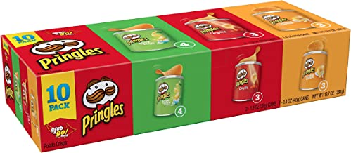 Pringles Potato Crisps Chips, Flavored Variety Pack, Original, Cheddar Cheese, Sour Cream and Onion, Grab and Go, 13.7 oz ...