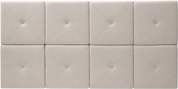 最重要的 THT 61013 FB 林 FQ 62 31 英寸天然亚麻与 X 缝和簇床头板瓷砖女王 31 英寸