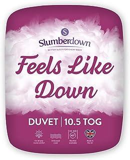 Slumberdown Duvet, Microfibre, White, Single