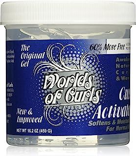Worlds Of Curls, Curl Activator Regular Gel, 16.2 Ounce