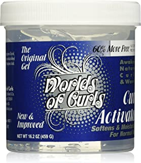 Worlds of Curls Curl Activator Regular Gel, 10.2 Ounce