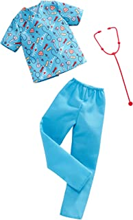 Barbie Clothes: Career Outfits for Ken Doll, Nurse Look with Stethoscope, Gift for 3 to 8 Year Olds