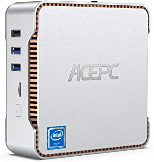 ACEPC Mini PC, Intel Celeron J4125 Processor 8GB DDR4 / 256GB ROM Windows 10 Pro Mini Computer, Triple Screen Support/4K H...
