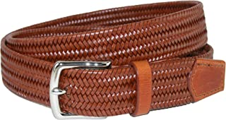 CrookhornDavis Men's Daytona Braided Leather Stretch Belt