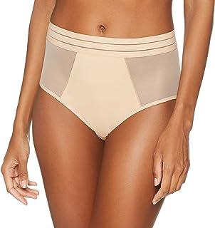 Maison Lejaby 171264-389 Women's Nufit Power Skin Beige Sheer Full Panty Highwaist Brief
