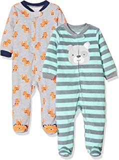 Baby Boys' 2-Pack Fleece Footed Sleep and Play