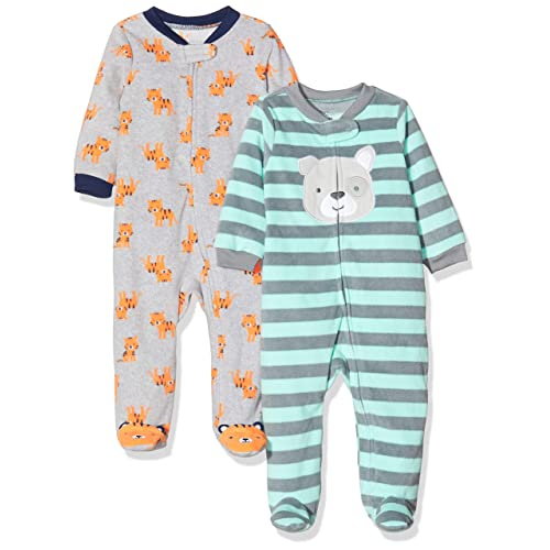 Simple Joys by Carters 2-Pack Fleece Footed Sleep And Play Unisex-Baby