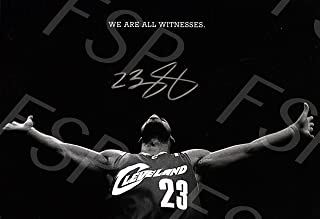 Lebron James Autograph Replica Poster Print - Cleveland Cavaliers - We are All Witness