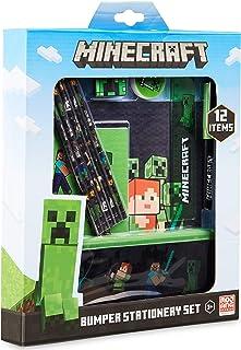 Minecraft Briefpapierset, terug naar schoolbenodigdheden, notitieboekje & etui set, officiële merchandise