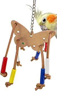 Bonka Bird Toys 985 Butterfly Beauty Leather Bird Toy Parrot cage Toys Cages Cockatiel Conure Budgie
