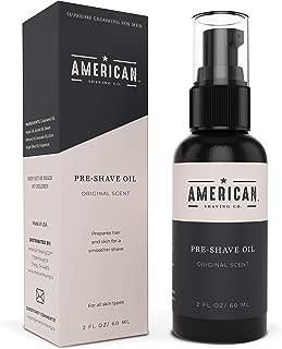 American Shaving Pre Shave Oil For Men (2oz) - Original Masculine Scent - 100% Natural Handcrafted Blend w/ Argan & Jojoba - Best Men's Shaving Oil for Effortless Irritation-Free Shaving