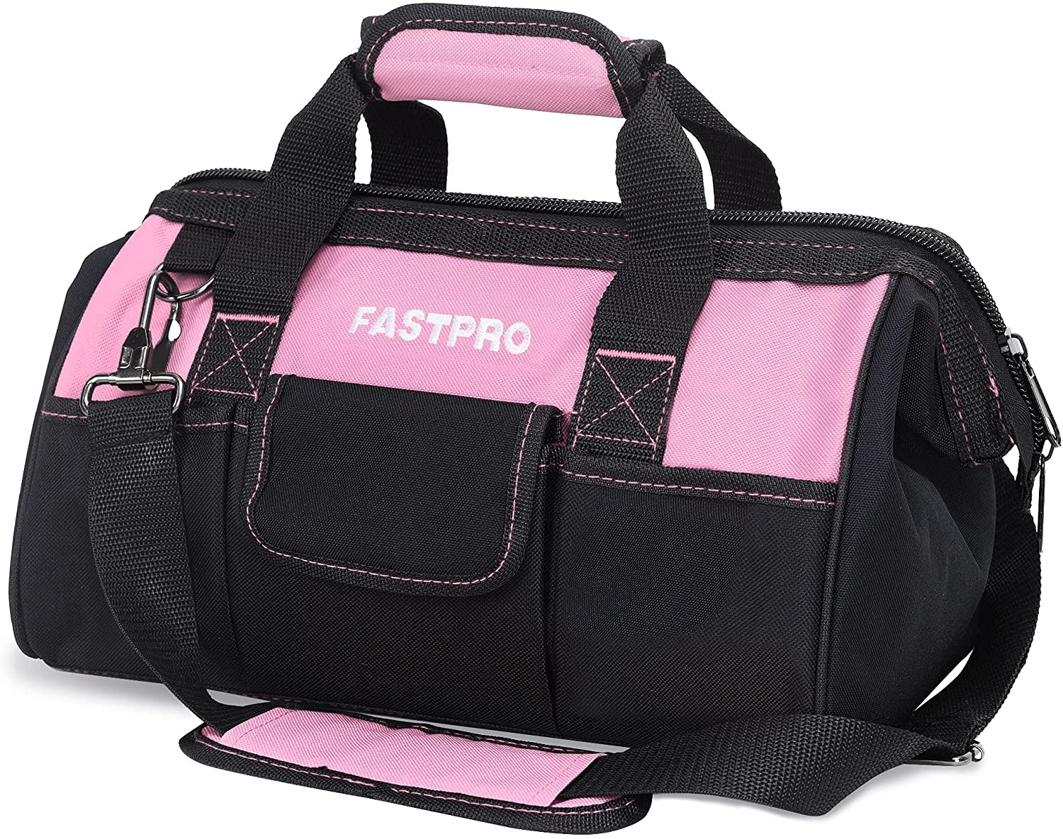 FASTPRO 14-Inch Pink Tool Bag for Zip-top Women Open Regular store Mouth Max 67% OFF Wide