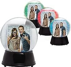 Neil Enterprises, Inc LED Light Up Photo Snow Globe (Black, Large)