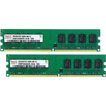 Hynix デスクトップPC用 メモリ PC2-6400(DDR2-800) 2GB×2枚 [Side3][並行輸入]