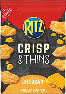 RITZ Crisp and Thins Cheddar Chips, 7.1 oz