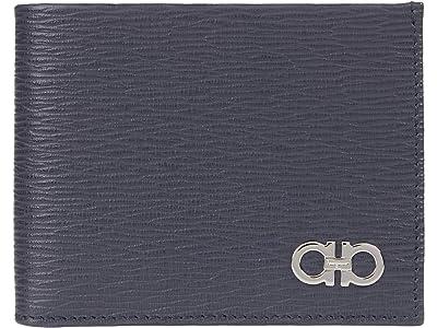 Salvatore Ferragamo Revival Gancio Bicolor Wallet (Wegner Grey/Tabacco/Nero) Bill-fold Wallet