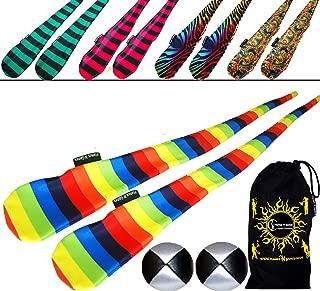FUNKY Sock Poi Set (5 Designs) Pro Poi Spinning Socks AKA Tube Poi + 2x Balls & Travel Bag.