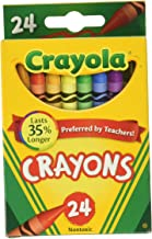 Crayola Crayons 24 Colors, (Pack of 6), Multicolor