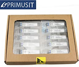 PRIMUSIT 10 Pack100% Compatible Cisco GLC-SX-MMD/GLC-SX-MM/SFP-GE-S, Gigabit SFP SX Transceiver, 1000Base-SX, MMF, 850nm, 550m