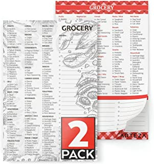 Arteza Grocery List Magnetic Notepad to Do List, 6x9 inches, Pack of 2, 60 Premium 68Lb/100gsm Pages Each for Hanging on Fridge & Shopping