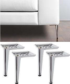 IPEA Lot de 4 Pieds pour canapés et Meubles modèle Ange FR – Lot de 4 Pieds de Haute qualité en Fer – Design élégant Coule...