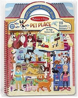 Melissa & Doug Puffy Sticker Activity Book Pet Place, 10-Page Spiral-Bound Sticker Book, Mix-and-Match Stickers, 115 Reusa...