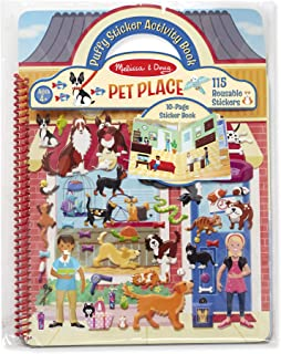 Melissa & Doug Pet Place Puffy Sticker Activity Book (Reusable Puffy Sticker Play Set, 10 Pages, 115 Stickers, Great Gift for Girls and Boys – Best for 4, 5, 6, 7 and 8 Year Olds)