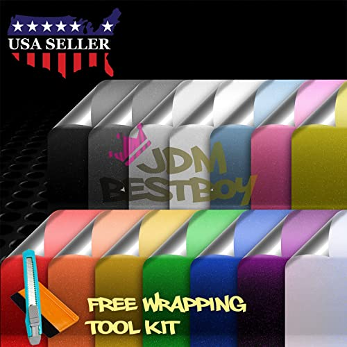 *Premium Chrome Glitter Sparkles Shine Vinyl Wrap Sticker Decal Air Bubble Free