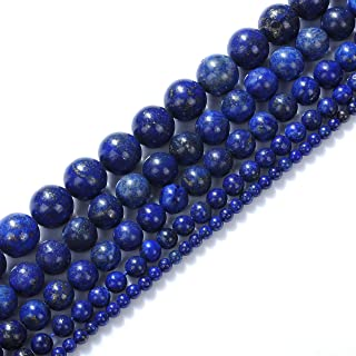 Natural Stone Beads 16mm Lapis Lazuli Gemstone Round Loose Beads Crystal Energy Stone Healing Power for Jewelry Making DIY,1 Strand 15