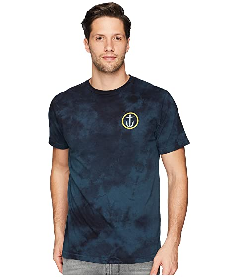 CAPTAIN FIN New Wave Ii Premium Tee, Blue Tie-Dye