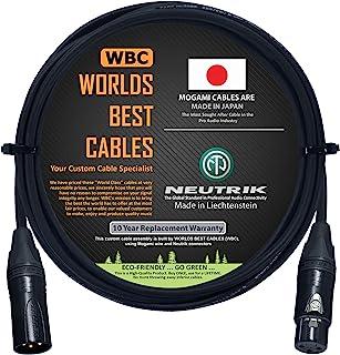 Cable de audio digital AES/EBU de 4 pies, hecho a medida por WORLDS Best CABLES, utilizando cables Mogami 3080 y conectore...