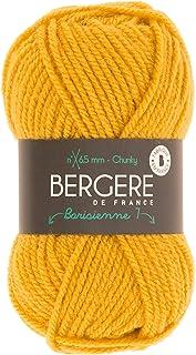 BERGÈRE DE FRANCE - Pelote de laine à tricoter et à crocheter BARISIENNE 7 - Fabriqué en France - 6,5 mm - 100% Acrylique ...