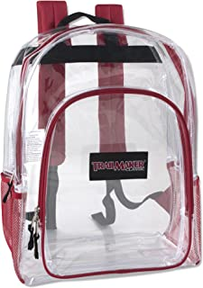 Deluxe Clear Backpack with Reinforced Straps - Perfect for School, Security, Sporting Events