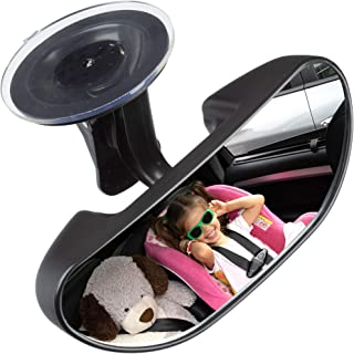 Baby Car Backseat Mirror, Rear View Facing Back Seat Mirror Child Safety Rearview Adjustable Rearview Wide Angle Convex Mirror for Infant Toddler Child Children Backseat passengers-Concept FiFi